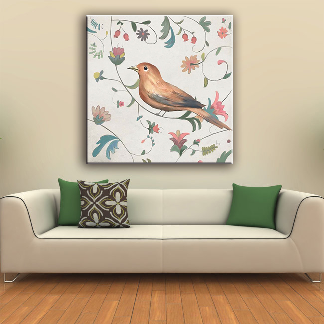 2016 hot sale cute bird wall hanging canvas art painting for living room