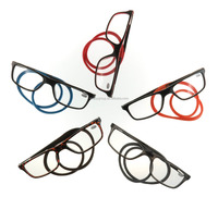 Hand neck 2016 Halter magnet presbyopia assorted color rubber temple Wholesale magnetic reading glasses