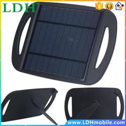 Multi Function 2.5W USB Power Solar Panel Charger for Cell Phone Tablet Black