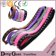 Point Silicone Polyester Headbands Bulk Decorative Hair Accessory
