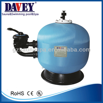 swimming pool side-mount fiberglass sand filter
