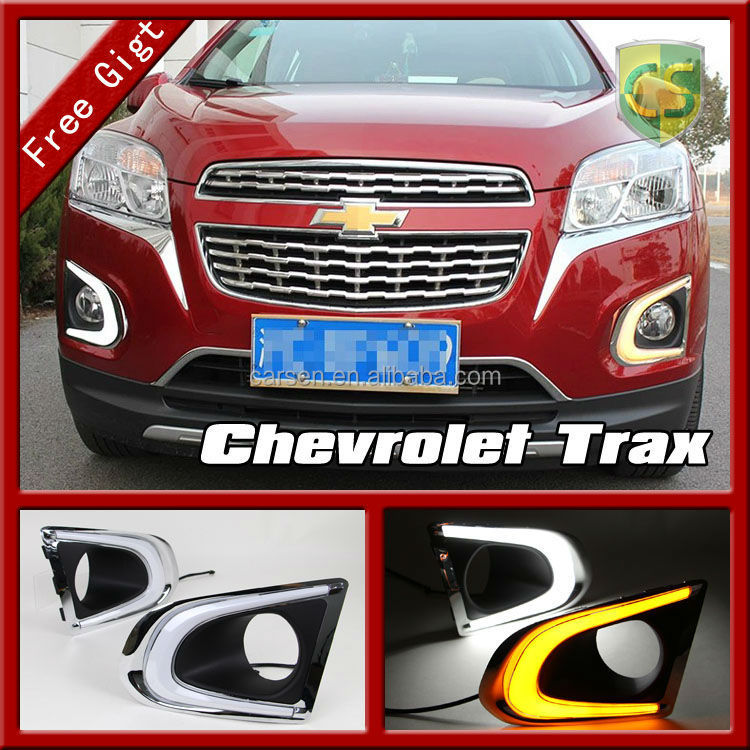 Driving LED Headlight Trax Auto Accessories Fog light lamp For Chevrolet Trax LED DRL Daytime Running light