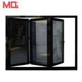 Residential entry double glazed aluminium folding door