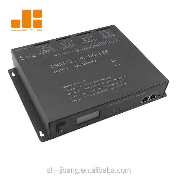 512 channel rgbw dmx512 controller 8 ports dmx master controller