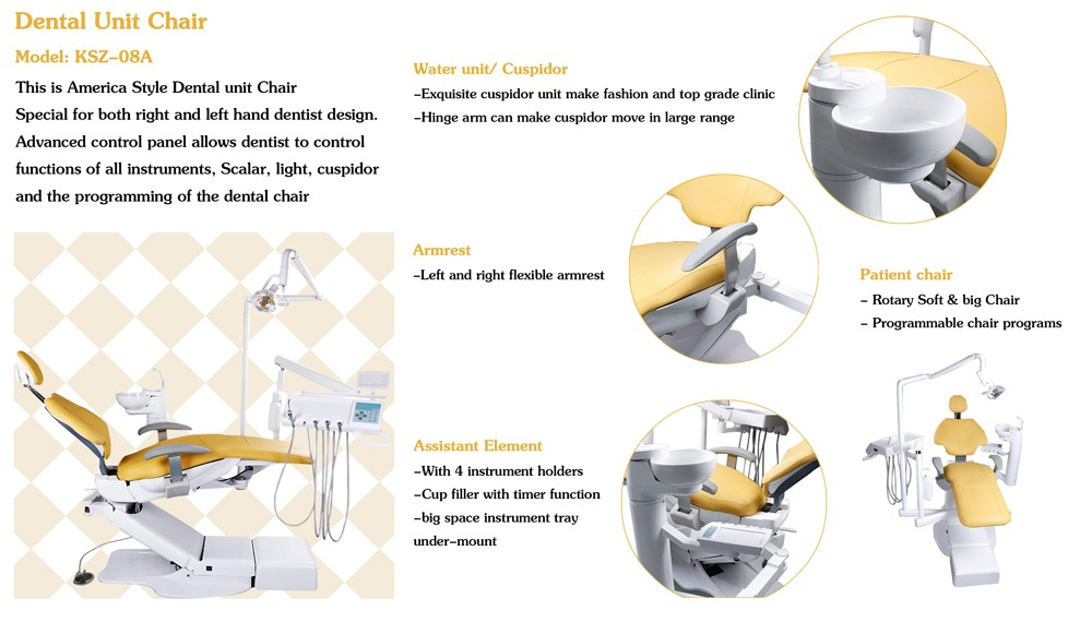 Dental Chair Unit Osada With Dental Assistant Chair And