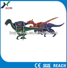 Best sell 3d plastic puzzle card,animal puzzle card