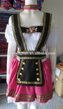China Supplier oktoberfest costume Pink Fantasy German Girl Beer Adult Costume Halloween costume fancy dr