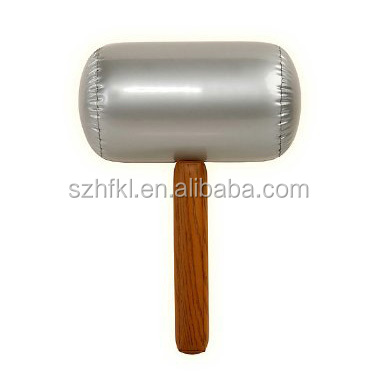 assorted plastic toy hammer for kids, inflatable advertising hammer, Inflatable plastic mallet