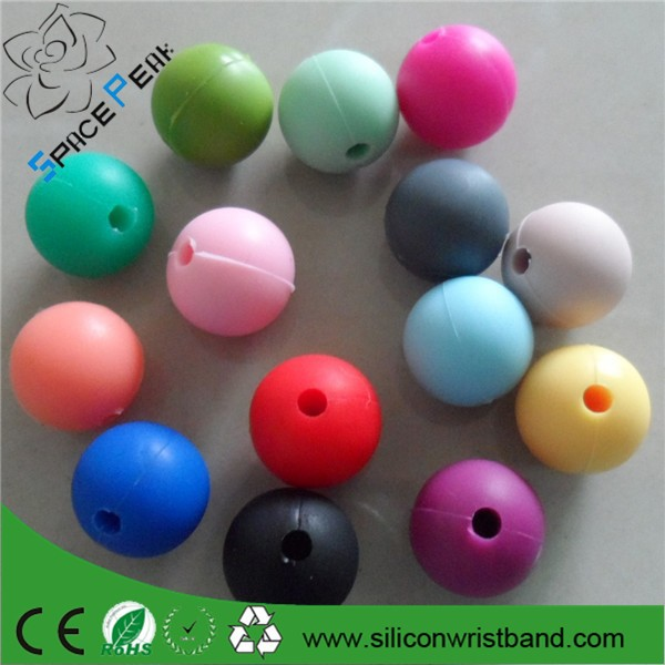 NEW Silicone Teething round 15mm beads Wholesale Baby Teething beads Food Grade Silicone Rubber Beads Silicone teething beads