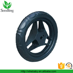 "plastic wheel eva wheel original factory 3 spoke bike wheels for kids bicycle, black 10"" mini cheap bike wheels"