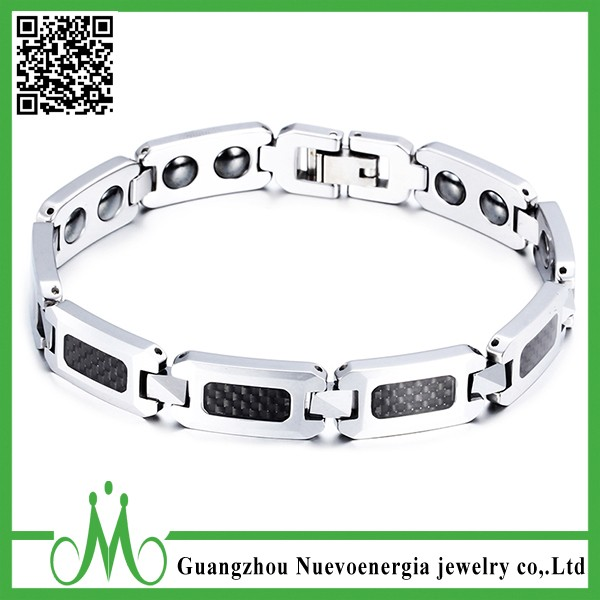 Fashion wholesale power magnetic bracelet scalar tungsten energy bracelet