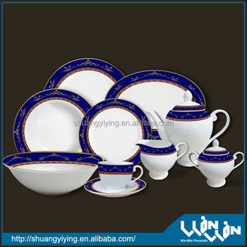 porcelain dinner set in color design ww10004