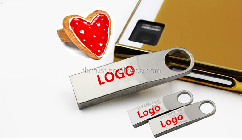 Factory open new model pen drive Free Custom Logo Keychain Mini Metal USB pen drive 4GB 8gb 16gb usb flash drive