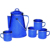 Hot sell dinnerware enamel camping coffee pot kettle set with percolator