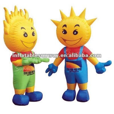 inflatable cartoon/advertising sun boys costume