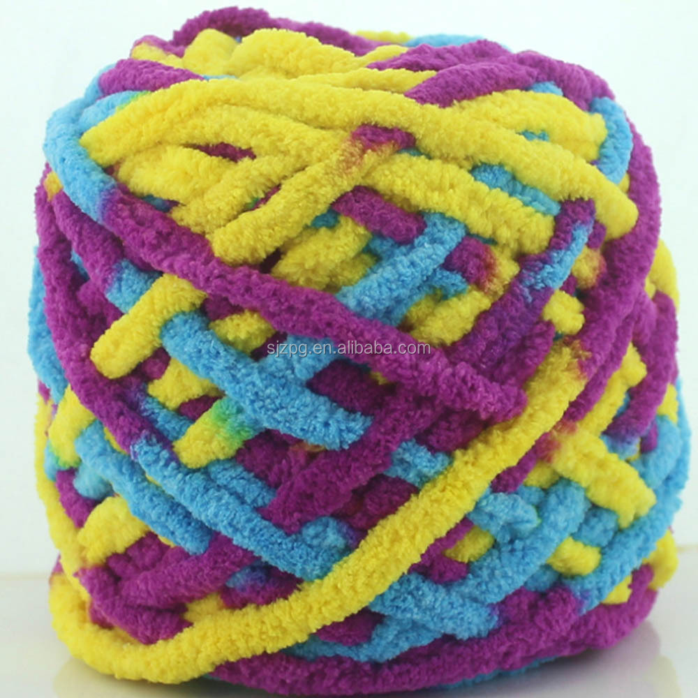 Colorful Dyed Scarf Slipper Hand knitted Yarn Ice Line Yarn For Hand knitting Soft Milk Cotton