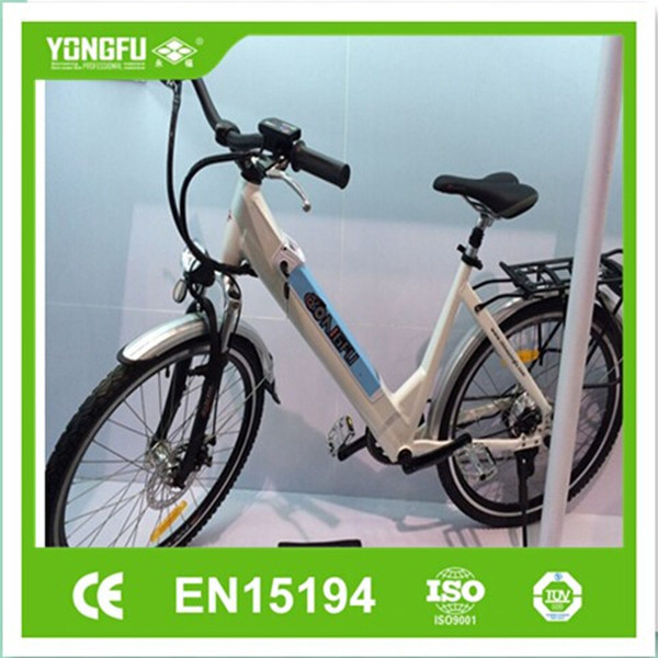 Female light weight Al alloy City E-Bike with Li-ion Battery integrated design