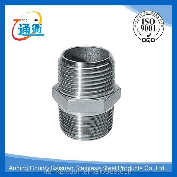 high quality hexagon nipple for stainless steel pipe fitting made in china with manufacture