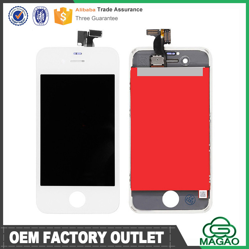 Wholesale price complete LCD touch screen and digitizer assembly replacement for iphone 4s display