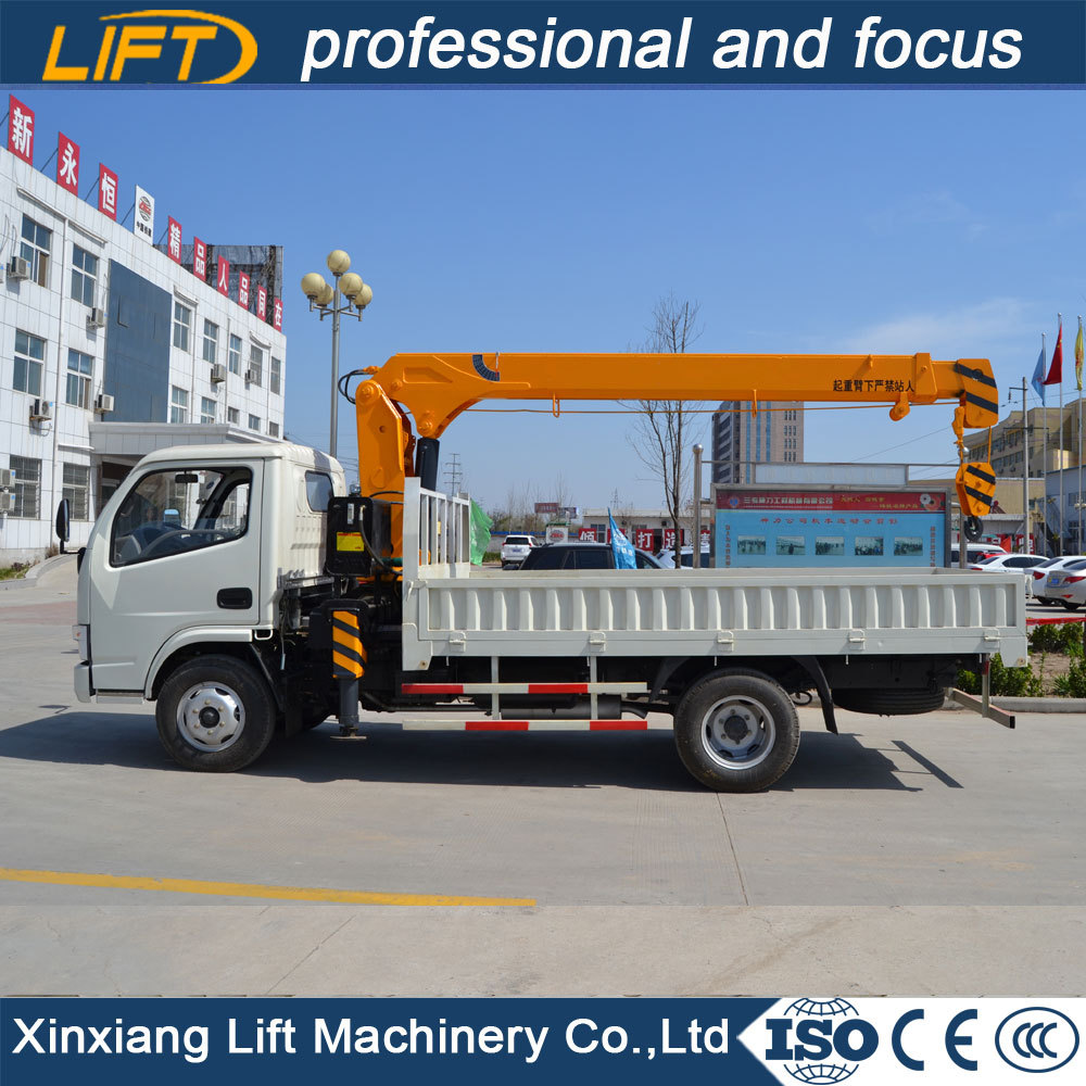 Best selling hydraulic mounted truck crane 3.5t