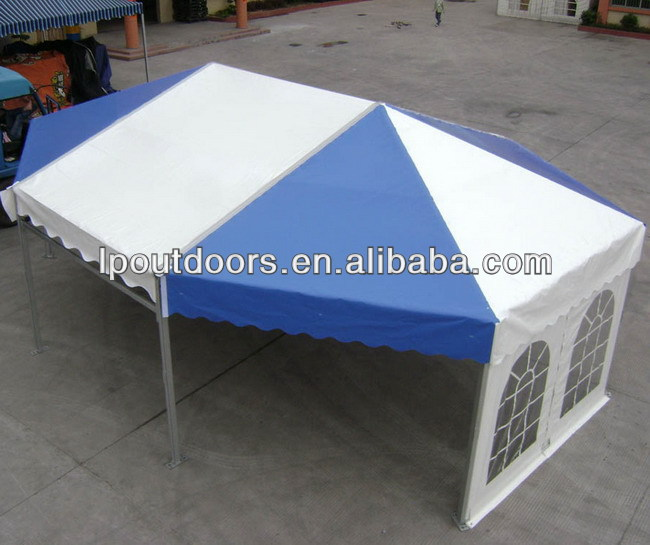 Octagonal colorful party tent for event