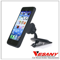 VESANY 360 Degree Adjustable Universal CD slot Mobile Cell Phone Car Holder NO Charger for iPhone Samsung