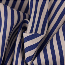 classical style blue and white stripe printed poplin cotton shirting fabric wholesale