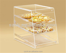 China clear retail acrylic cake / bakery / pastry display case wholesale
