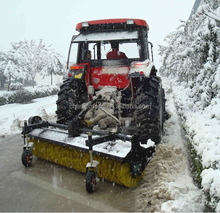 electric start tractor rear snow sweeper