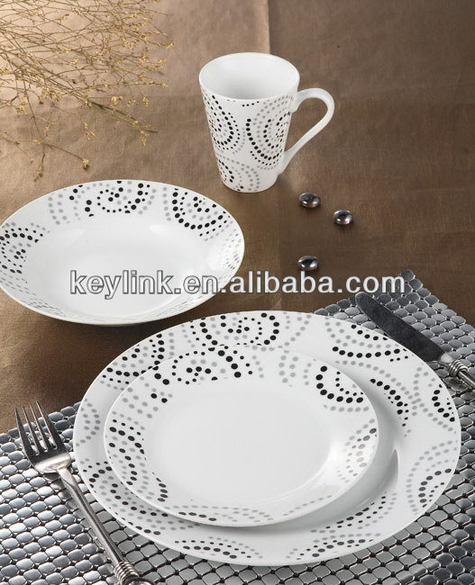 Top quality ceramic airline porcelain tableware