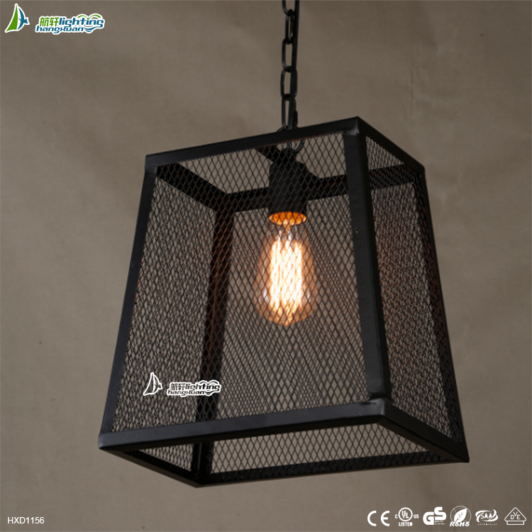 Contemporary and contracted industry lamp,antique droplight,cage pendant light for style#D1156