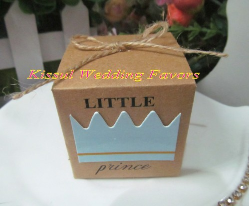 Newest Baby Gift box of Little Prince Kraft Favor Boxes for baby birthday party favor boxes