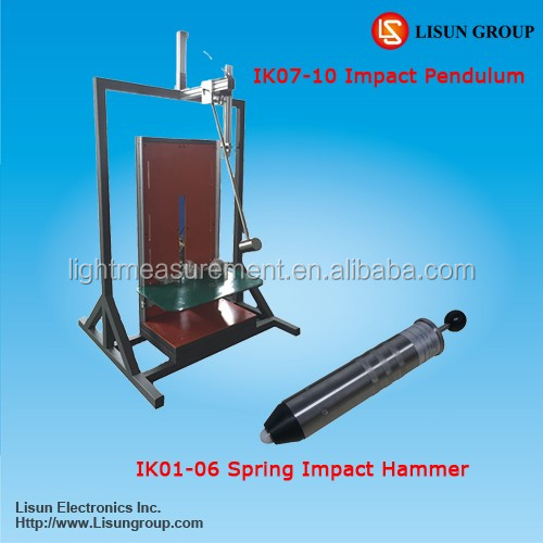 IK01-10 Automatic spring operated impact hammer (iec 60068-2-75) for luminaire ik rating test