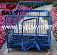 Commercial Aluminum Folding Dog Cage And Purple Dog Crate