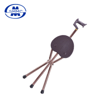 Three-legged Aluminum Folding cane walking stick with chair