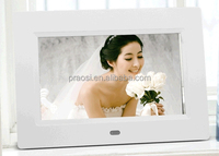 7 inch electronic digital photo frame with SD/MMC/MS card/USB flash with wall mounted visa holes