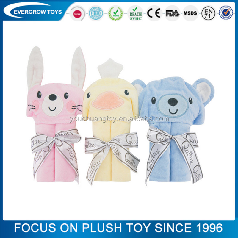 2017 Custom Coral Fleece Baby Blanket Plush Toy With Blanket Rabbit Blanket Baby Toys