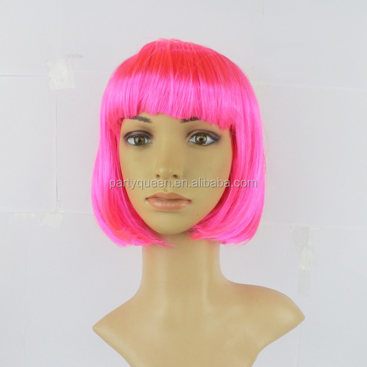 party make up short pink bob hair wig