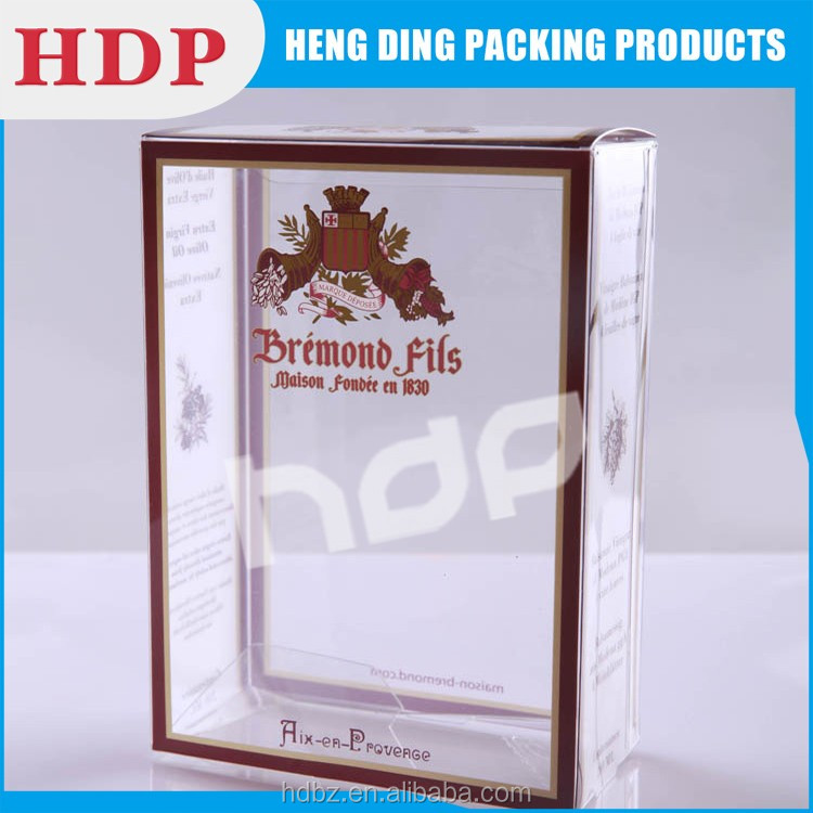 factory offer customized clear pvc plastic box for invitations