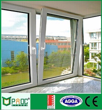 Top level cheap price aluminium tilt and turn windows with fly screen