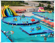 Giant Portable Inflatable Water Games Park On Land, Inflatable Water Amusement Park For Sale