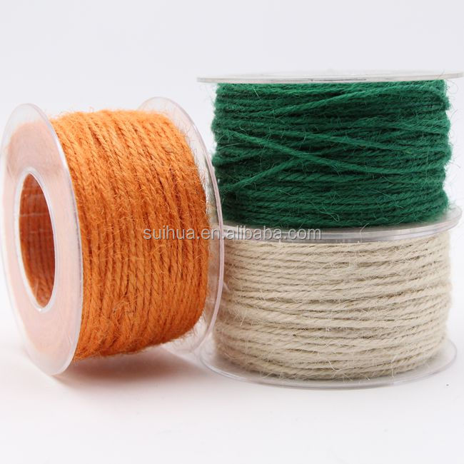 50m Burlap Natural Jute Twine Rope Cord String Colorful Craft Jute Rope