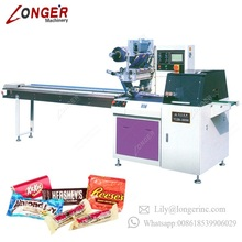 Cake Soap Cotton Candy Chocolate Bar Pack Bread Fruit Vegetable Wrapping Horizontal Packaging Automatic Biscuits Packing Machine