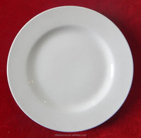 high quality white porcelain plate, porcelain plate for hotel and restaurant, round porcelain dinner plate