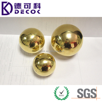 Factory price quality high polished 6mm brass ball
