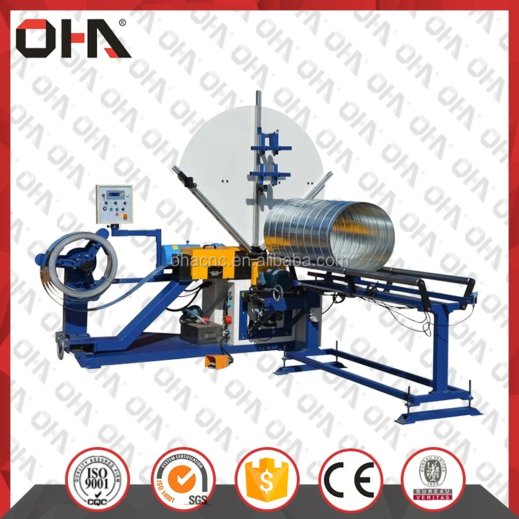 Manufacturer price hvac spiral duct making/duct forming machine