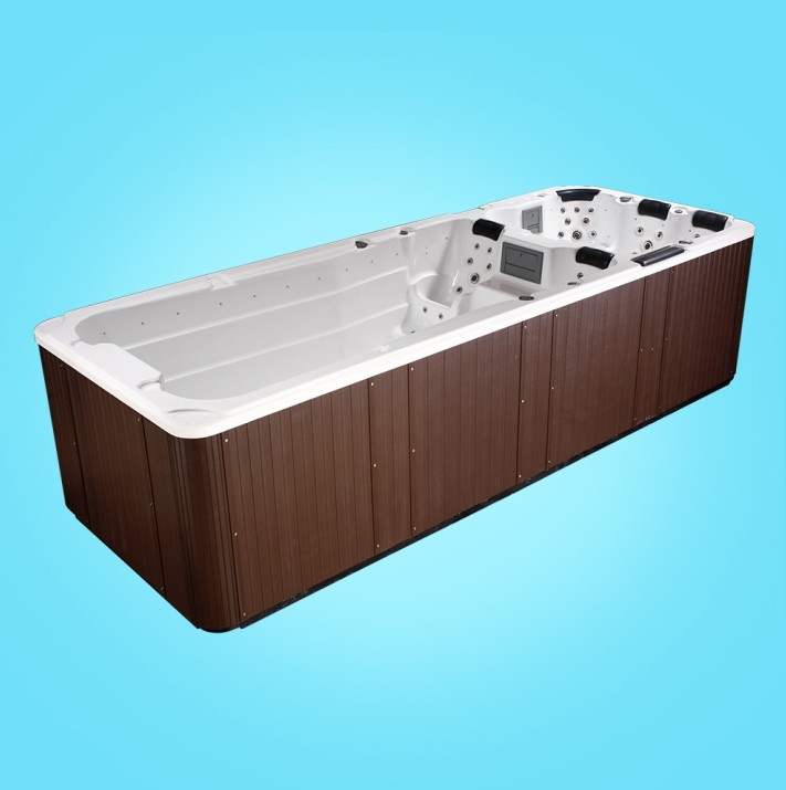 good selling products europe standard 4 person unique design dual zone endless swim spa