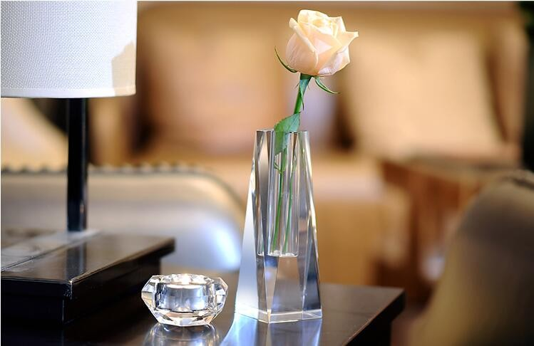2017 Hot Selling Home Decoration Exquisite Clear crystal vase