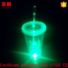 16oz modern hall led double layer plastic cup