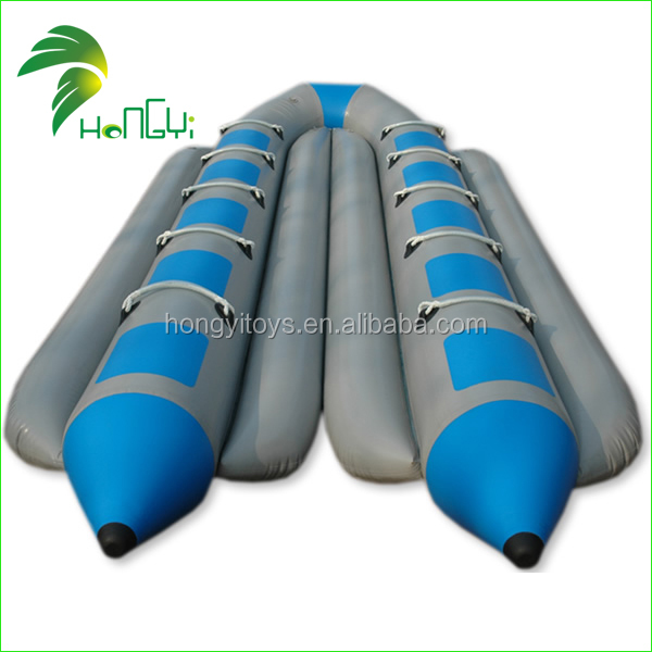 2017 High Quality PVC Tarpaulin Cheap Inflatable Boat, Customized Inflatable Banana Boat For Water Game